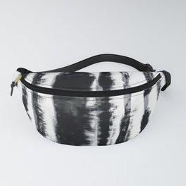 Tie-Dye Shibori Stripe BW Fanny Pack