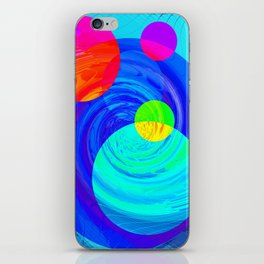 Re-Created Twisters No. 12 by Robert S. Lee iPhone Skin