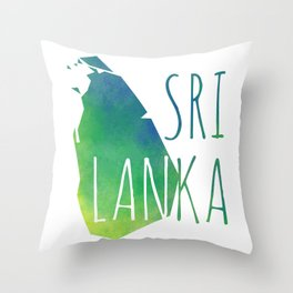 Sri Lanka Throw Pillow