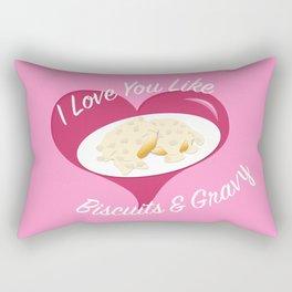 I <3 U Like I <3 Biscuits & Gravy Rectangular Pillow