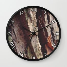 WOOD - LOG - TEXTURE Wall Clock