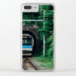 Tunnel Train Clear iPhone Case