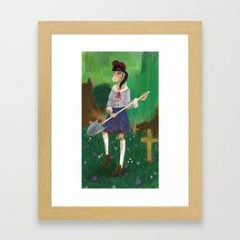 School Night Framed Art Print