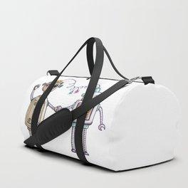 Cute robots in love II Duffle Bag