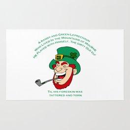 A Randy And Green Leprechaun St Patrick's Day Limerick Rug