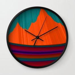Paint Me a Mountain Wall Clock