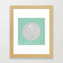 Everything belongs to geometry #5 Framed Art Print