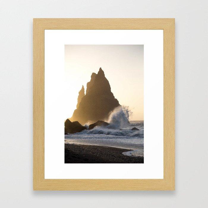 Golden Crash Framed Art Print
