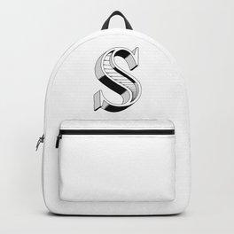 Uppercase 3D letter S Backpack