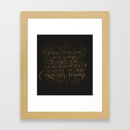 Every Little thing Framed Art Print