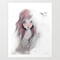 Dorah Pink Art Print