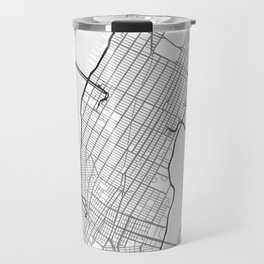 New York NY Map White Travel Mug