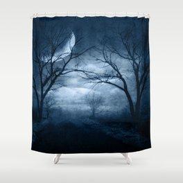 A Dark & Foggy Night Shower Curtain