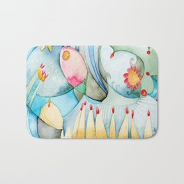 Bosque en azul Bath Mat