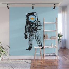 Goldfish Astronaut Wall Mural