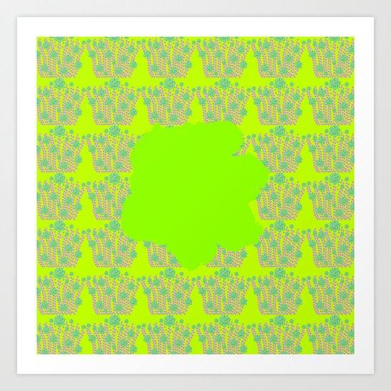 pattern with flower 2 Art Print