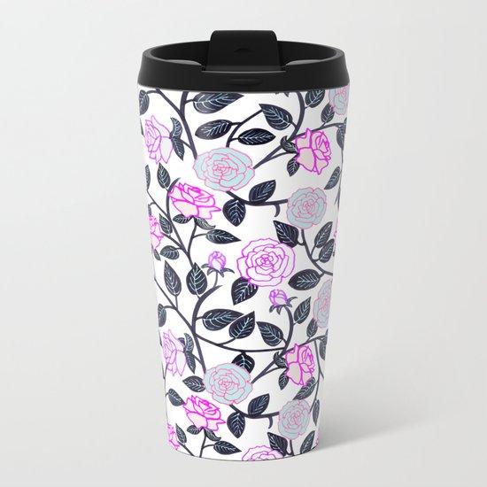 Rose Delight Metal Travel Mug