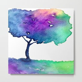 Hue Tree II Metal Print
