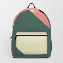 Pastel green pink geometric  Backpack