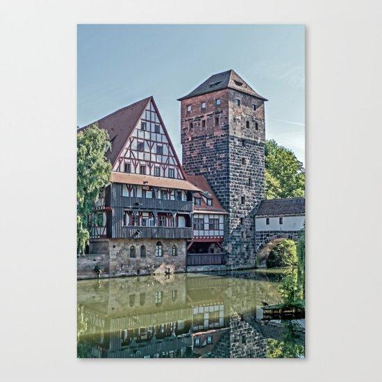 Romantic Nuremberg, -Franken-Bavaria-Germany Canvas Print