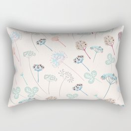 Beautfiul floral vector pattern with rustic flowers Rectangular Pillow