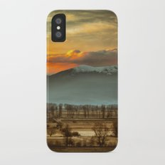 Sunset field II Slim Case iPhone X