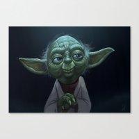 yoda Canvas Prints featuring Yoda  by Jeff Delgado