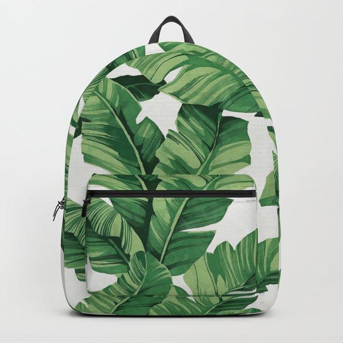 Tropical banana leaves VI Backpack