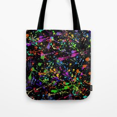 Paint Splatter 2 - Black Tote Bag