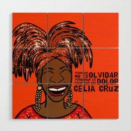 La Reina Celia Cruz Wood Wall Art
