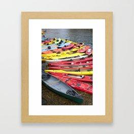 Kayaks Framed Art Print