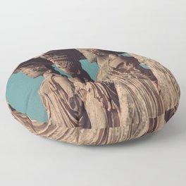 Caryatids of the Erectheum, ancient greek, Agora of Athens, Erectheum, Greece photography, Athens Acropolis Floor Pillow