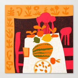 Stilllife with watermelon no 01.  Canvas Print
