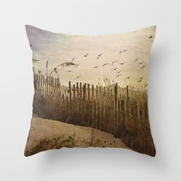 Over the Dunes Painterly Throw Pillow