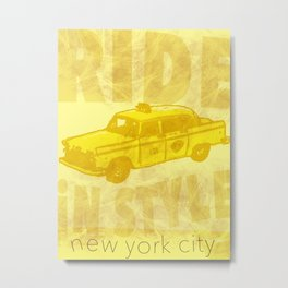 Ride in Style Metal Print