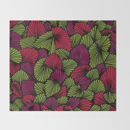 Happy abstract: Jungle Nr:02 Throw Blanket
