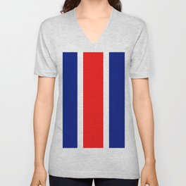 TEAM COLORS 10....RED, WHITE AND NAVY Unisex V-Neck