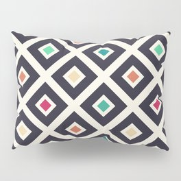 Modern Trendy Geometric Patter in Fresh Vintage Coffee Style Colors Pillow Sham