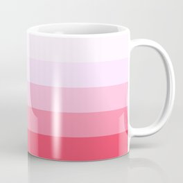 Pastel Pink Stripes. Coffee Mug