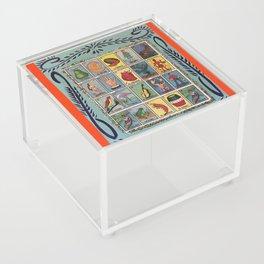 Mexican Bingo Loteria Acrylic Box