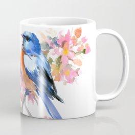 Bluebird and Cherry Blossom Coffee Mug