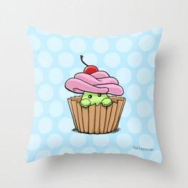 Cupcake Fluff Throw Pillow