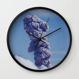 Erupting Volcano Shot on Film Wall Clock