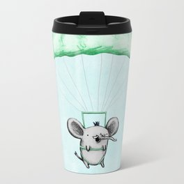 Cutie Parachuting Elephant Metal Travel Mug