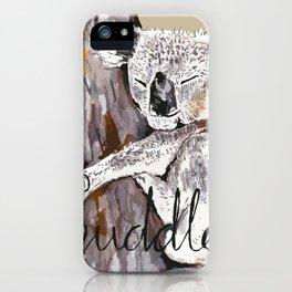 koala cuddle iPhone Case