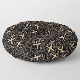 Bitter Chocolate - X-Plosion Decorative Pattern Floor Pillow