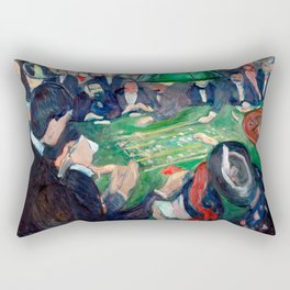 Edvard Munch - At the roulette table in Monte Carlo Rectangular Pillow