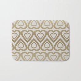 Golden Hearts Valentine - Gold Bath Mat