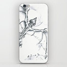 Wyverns flying over a desert iPhone Skin