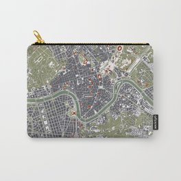 Rome city map engraving Carry-All Pouch